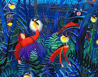 Illustration ''Fireflies''
