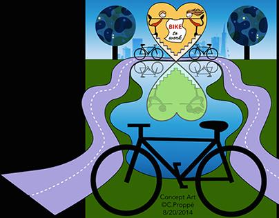 Concept Art: Bike to Work Poster + T-shirt Design