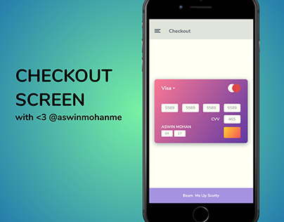 Checkout Screen for Daily UI 2 - aswinmohanme