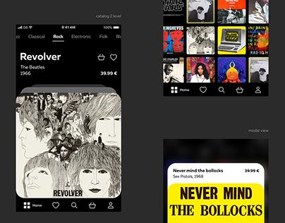Vinyl records. app. concept