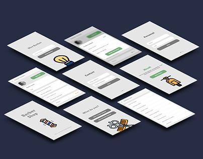 Barber Shop Android Mobile Application UI Design