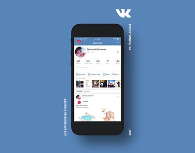 VK IOS app redesign concept