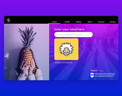 Online Avatar Website UI