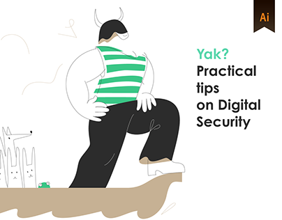 Yak? Illustrations and icons for WEB (Digital Security)