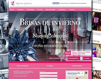 Diseño web para marca de ropa