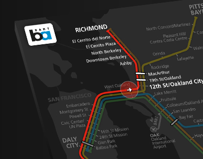 BART Real-Time Transit Map
