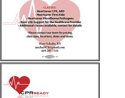 CPR class postcard