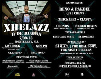 Flyer Oficial, Xhelazz & R de Rumba | Monterrey