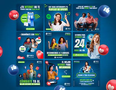 Diseños de Redes Sociales para Empresa de Internet