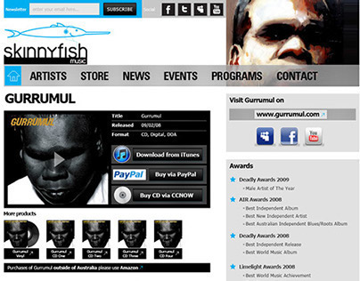 Skinny Fish Music Website