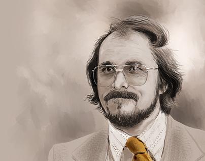 Digital portrait of Irving Rosenfeld