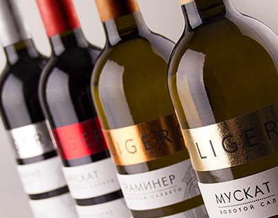 "Wine label design ""Ligero"" / Дизайн этикетки вина"