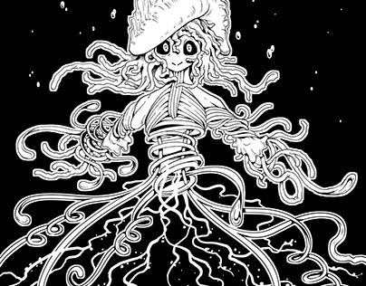 Inktober 2017 (B/W illustrations)