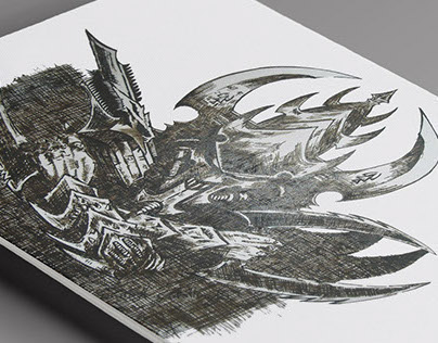 Warhammer's copy Illustration (2004) - China Ink