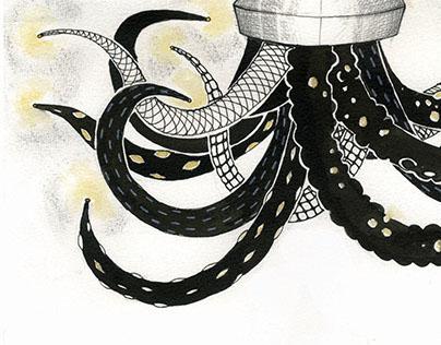 the Dark Octopus Lamp