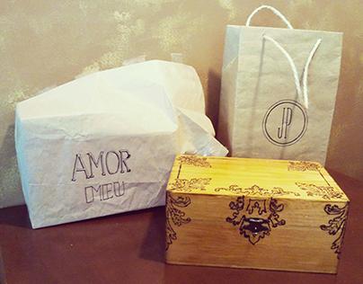 Engraved wood box // branding + packaging