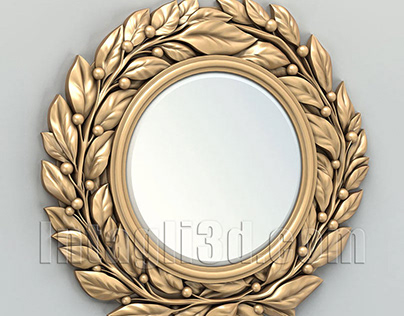 3D-model of round wall mirror