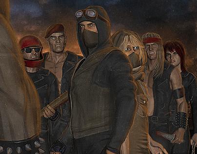 Protector 101's WASTELANDS album art