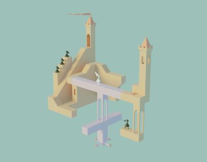 Monument Valley 3D Fan Art