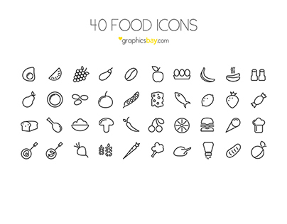 40 free food vector icons