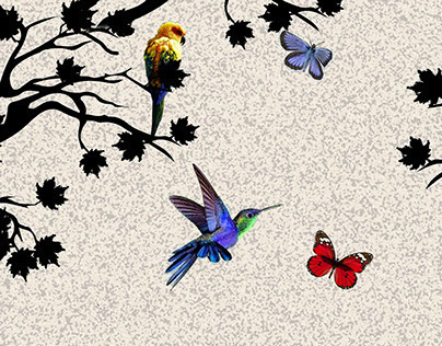 startling b/w birds