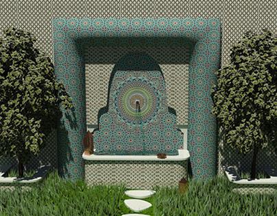 Fontaine Murale artisanal (3D Max)
