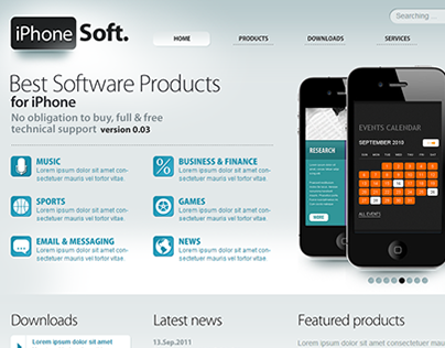 Iphone Soft Joomla Template
