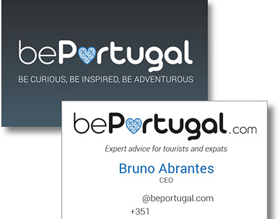 bePortugal logo and business cards design.