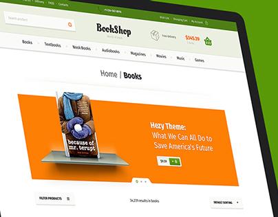 Bookshop & Free PSD Pack