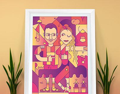 Amore in Salsa Illustration