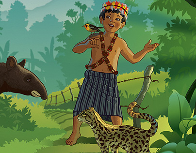 Amazon conservation illustration
