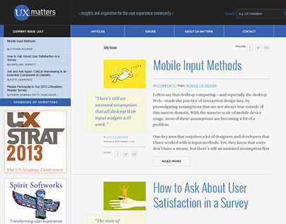 Unofficial UXMatters re-design