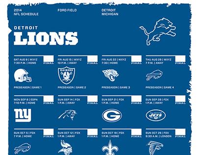 2014 NFL Schedules