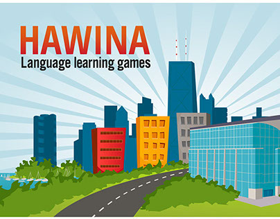 Illustrations for Hawina language learning games