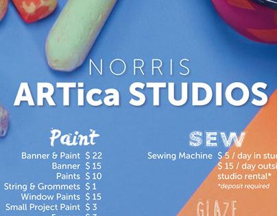 ARTica Studios Price List 2014