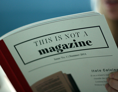 This is not a magazine