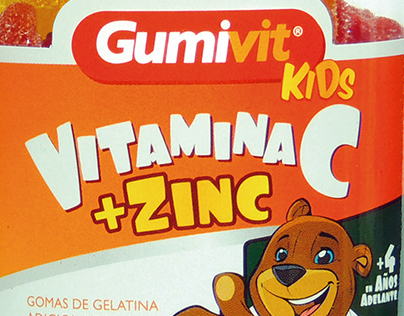 Branding and Packaging for gummi bears with vitamins