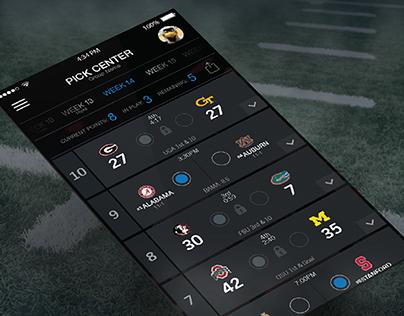 College Football Pick Em' App