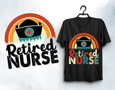 Retired Nurse T-Shirt Design