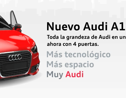 Audi A1. Takeover Banner