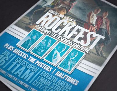 Rock Fest Grunge Flyer Template