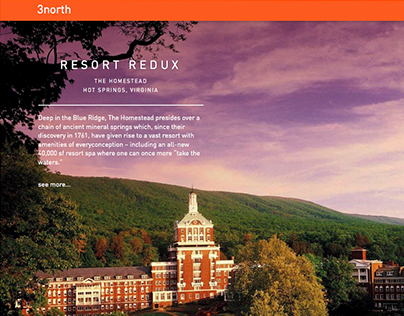 Elegant microsite conveys expertise in travel luxury