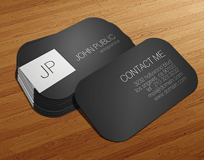 Modern Elegant Rounded Corners Business Cards