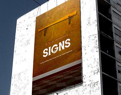 """""""Signs"""" Vintage Minimalist Movie Poster"""