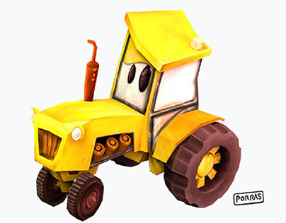 Tractor 3D Low Poly