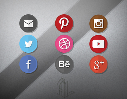 Flat Style - Soical Network Icons