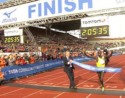 Samenvatting TV-verslag Marathon van Amsterdam 2013