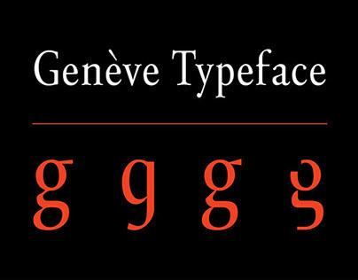 Genève Typeface 2014
