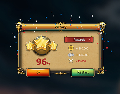 Fantasy Mobile Game Gui Pack 04 on Behance