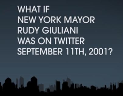 Giuiliani 9/11. Gold+Best use of Twitter, Shorty Awards